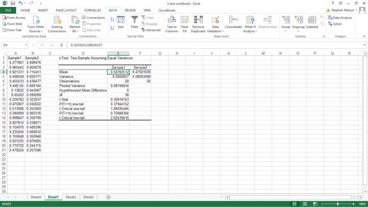 How to Use the t-test Data Analysis Tool in Excel - dummies