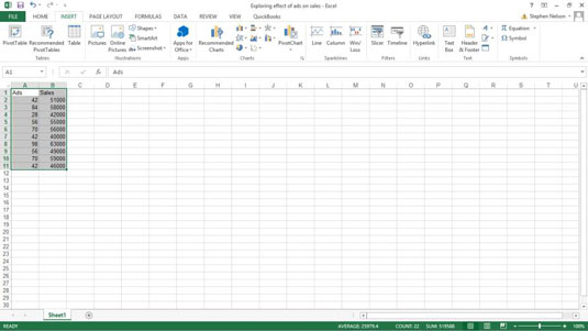 How to Create a Scatter Plot in Excel - dummies