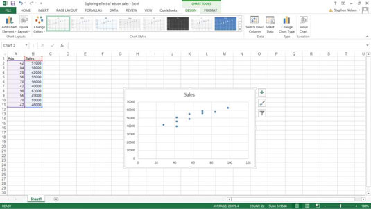 How to create a scatter plot in excel dummies image1g ccuart Gallery