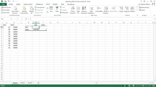 how to use the regression tool in excel
