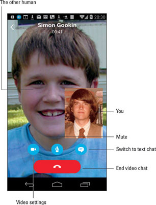 Placing a Video Call with Skype on Your Android Phone - dummies