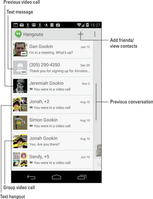 Text Chatting With The Hangouts App On Your Android Phone Dummies