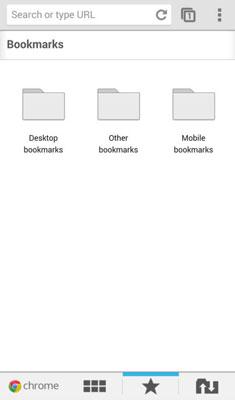 Bookmarks on Google Chrome.