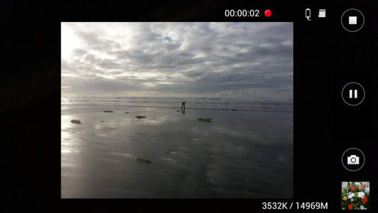 Samsung Camera app in video recording mode.