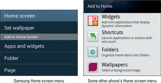 How to Add Apps to the Android Phone Home Screen - dummies