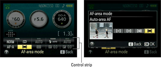 "Press the <b/></noscript><i>i</i> button to activate the control strip (left); highlight the option you wan""/> <div class="