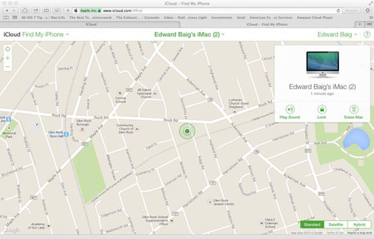 How to Find a Lost or Stolen Mac with the Find My Mac Feature - dummies