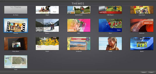 How to Apply iMovie Themes to a Video Project - dummies