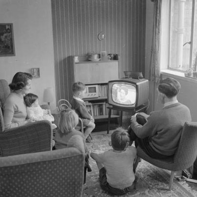 Image result for 1950s kids watch TV