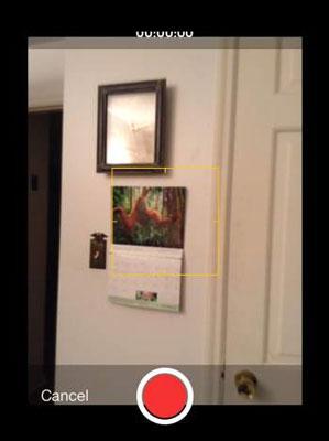 Recording a video on an app emulator.