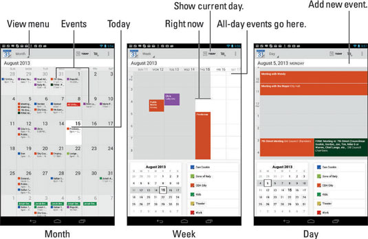 Android Calendar.How To Create An Event On Your Android Tablet S Calendar Dummies