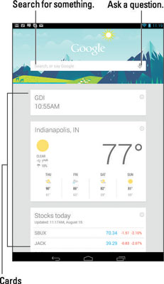 Superb How To Use Google Now On Your Android Tablet Dummies Beutiful Home Inspiration Semekurdistantinfo