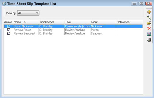 Slip Template | How To Create Sage Timeslips Time Sheet Slip Templates Dummies