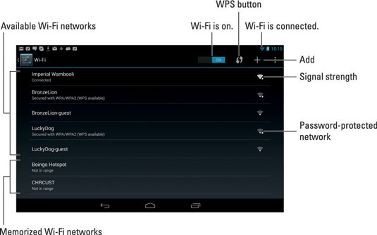 How to connect your android tablet to a wi fi network dummies image0g keyboard keysfo Image collections