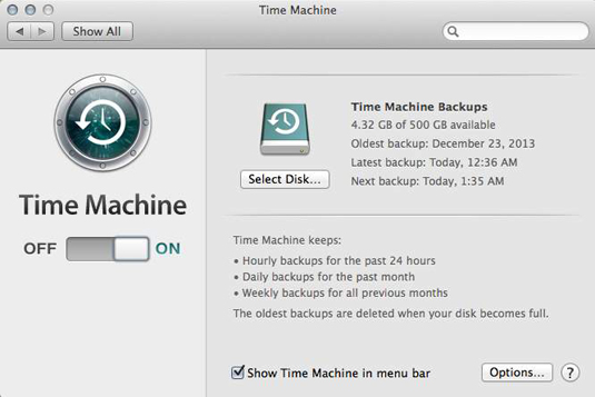 Put Time Machine to work, and your data is always backed up.