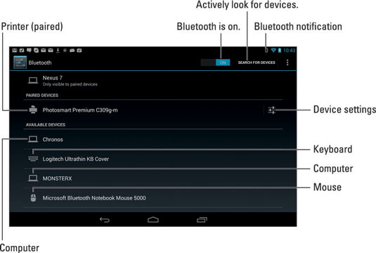 How to Use Bluetooth on Your Android Tablet - dummies