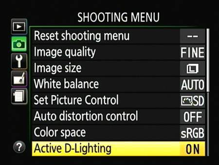 In the advanced exposure modes you can turn Active D-Lighting on or off  sc 1 st  Dummies.com & Nikon D3300: Active D-Lighting - dummies