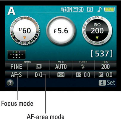 Select these autofocus settings for stationary subjects.