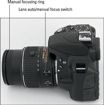 Nikon d3300: manual focusing during live view dummies.