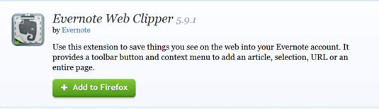 Install Evernote Web Clipper window in Firefox.