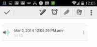 A saved audio recording on Evernote.