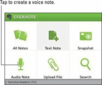 The Evernote home screen.