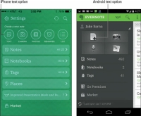 The Evernote app on a mobile device.