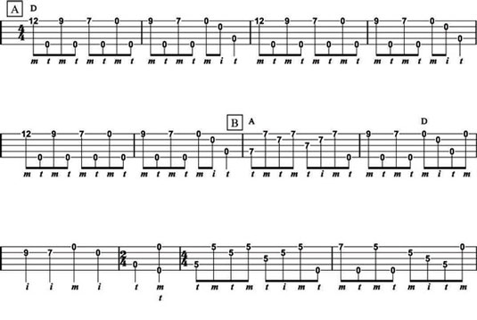 """""""Coal Creek March,"""" from Pete Steele, using old-time fingerpicking techniques (Parts A an"""