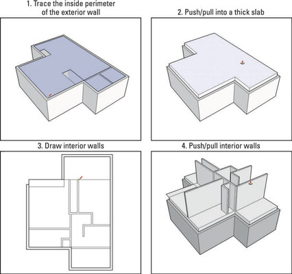 How To Add A Second Floor To A Sketchup House Model Dummies