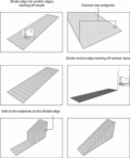 Visual instructions on how to subdivide a rectangle to build stairs on SketchUp.