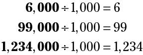 every number that ends in 000 is divisible by 1,000 (thousand)