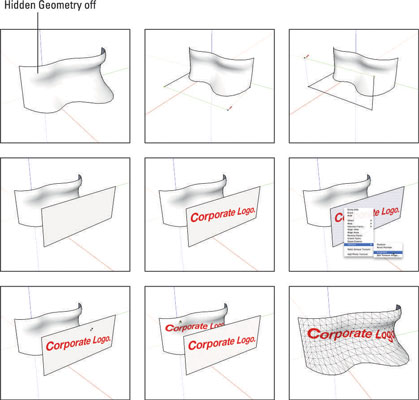 SketchUp's Projected Texture Method of Adding Texture to Curves