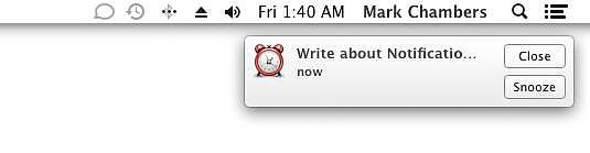An alert notification appears on your Desktop.