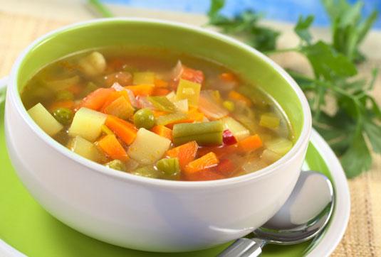 A vegetable soup.