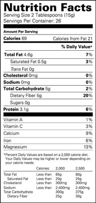 A Nutrition Facts label.