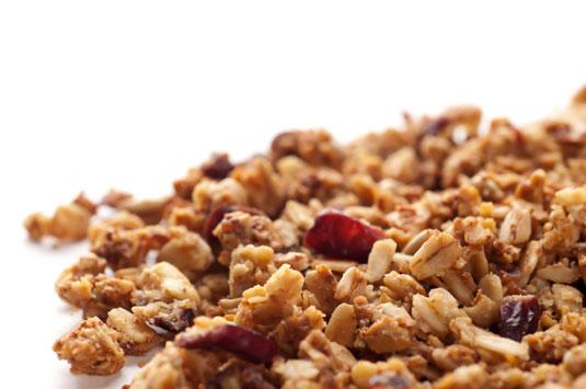 Chia, cranberry, and coconut granola