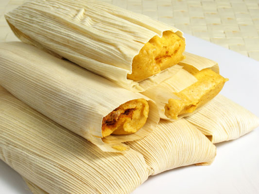 A plate of masa tamales.