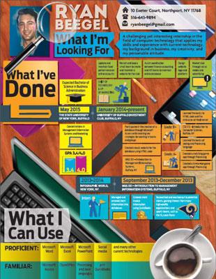 An infographic can serve as a résumé.