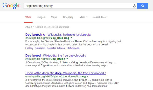 Using Google searches to find an audience for your work.
