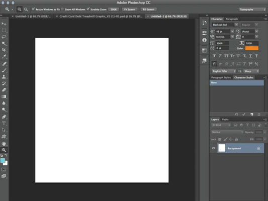 Getting started with Photoshop's layers palette.