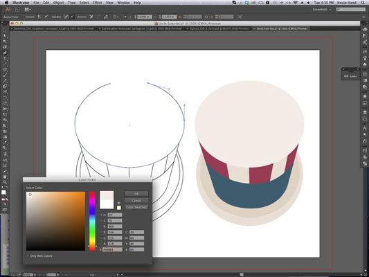 Use the Pen tool to outline your shape.