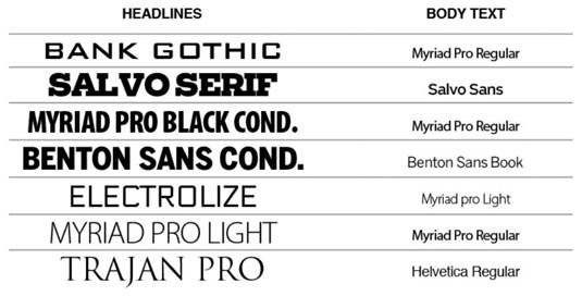 Maintain a list of favorite fonts for your infographics.