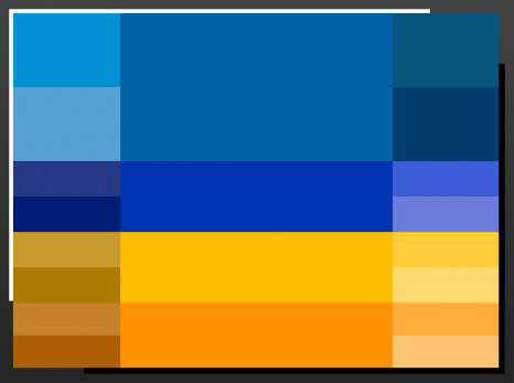 Blue and orange sit opposite each other on the color wheel.