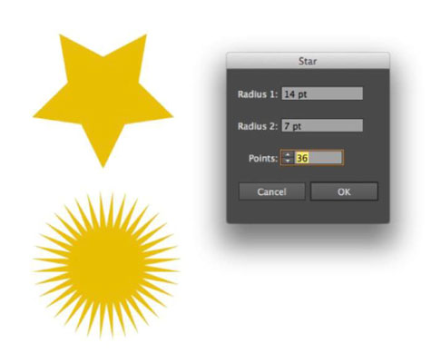Edit your star shape for your infographic.