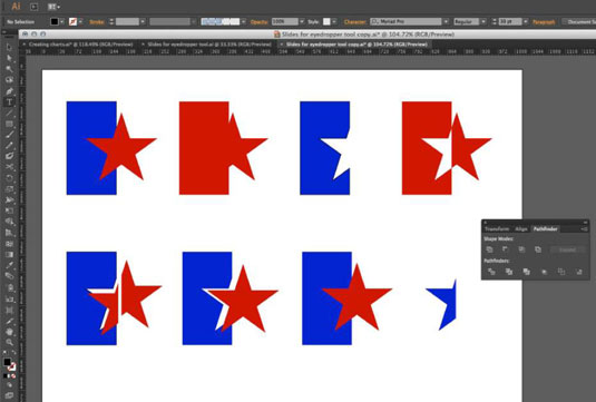 Using one shape to change another in Illustrator.
