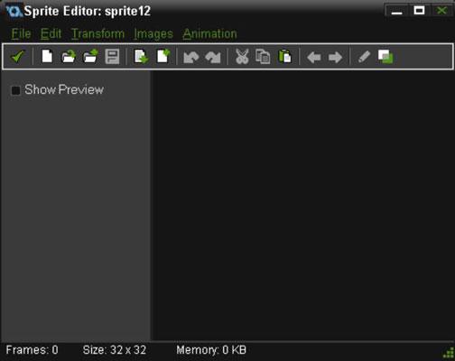 The Sprite Editor window.