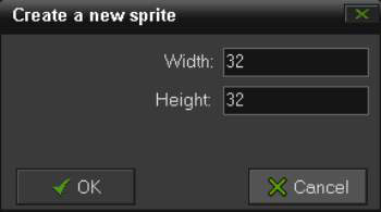 The Create a New Sprite dialog box.