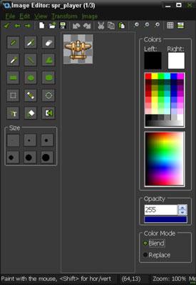 GameMaker's Image Editor for Sprites.