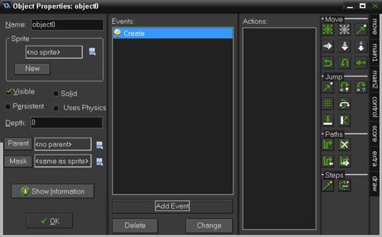 Drag and drop Actions from the Move tab to the Actions section.