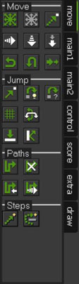 The Move tab in GameMaker.
